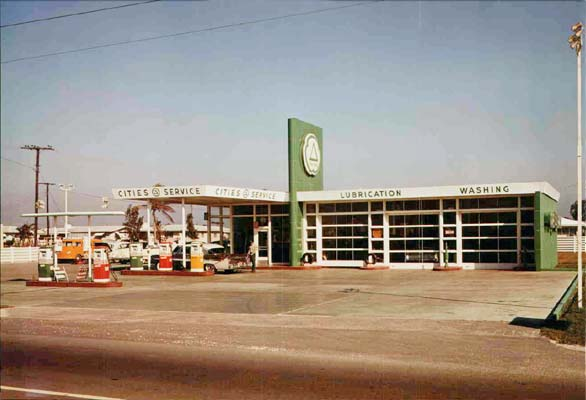 1957 - Cities Service gas station at the southeast corner of Tamiami Trail and Galloway Road