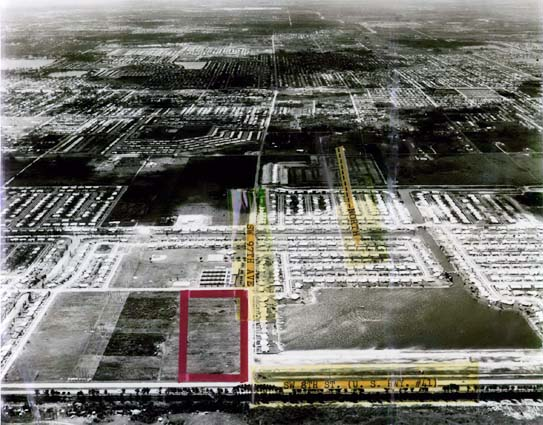 1966 - aerial photo looking south from Tamiami Trail and SW 97th Avenue, Miami