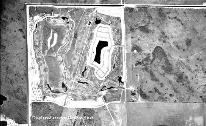 1963 - aerial view of the Country Club of Miami development in northwest Dade County