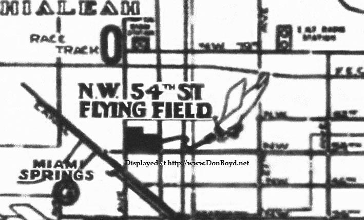 1930s - Hialeah Airport (aka 54th Street Flying Field) on Hialeah Drive, Hialeah, Florida