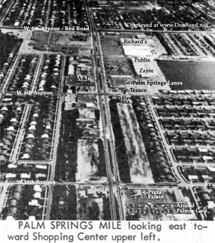 Early 1964 - Palm Springs Mile looking east (with text)