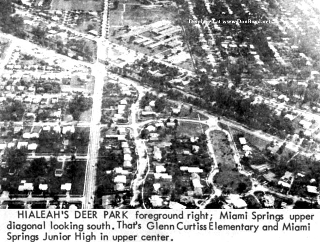 Early 1964 - Hialeahs Deer Park section and Miami Springs