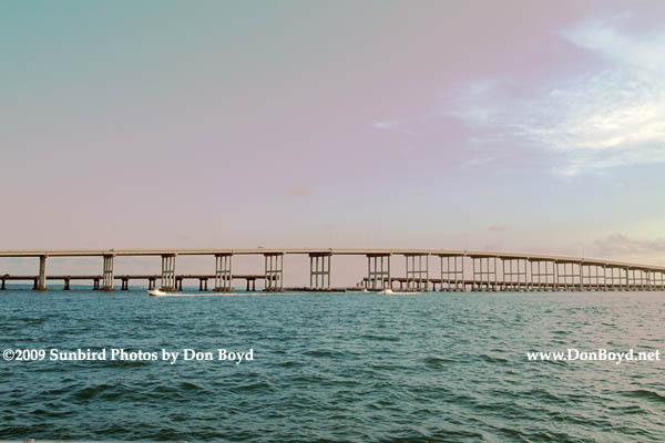 2009 - the old and new Rickenbacker Causeway bridges linking Virginia Key and Key Biscayne to the mainland (#1657)