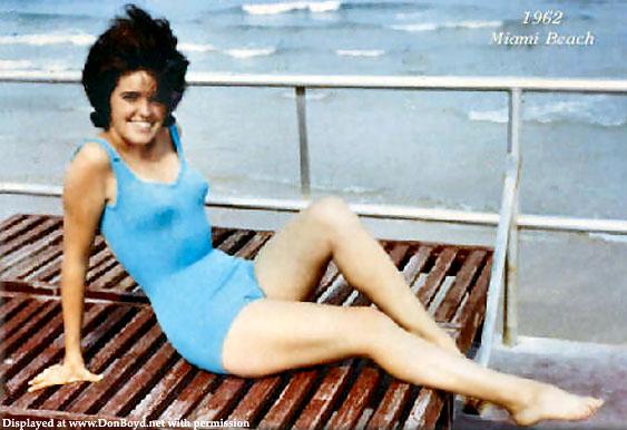 1962 - Jona Mulvey posing on Miami Beach