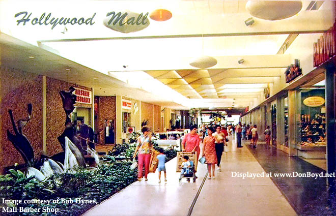 1970s - interior of Hollywood Mall, South Floridas first enclosed air-conditioned mall with a major department store