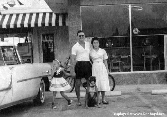 Late 1950s - Charles and Billie Bechter in front of their Dairy Queen and Pappees Restaurant on E. 4th Avenue, Hialeah
