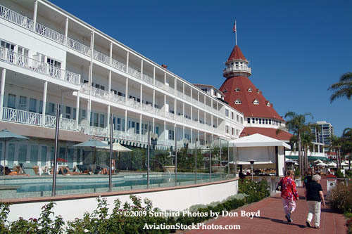 2009 - Hotel Del Coronado landscape stock photo #3037