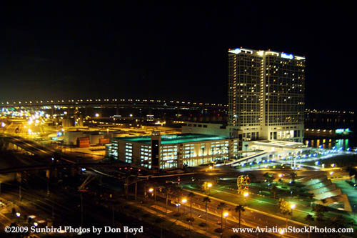 A nighttime view from the balcony of our suite at the Omni Hotel landscape stock photo #3011