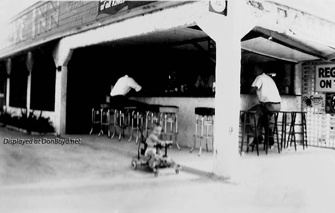 1942 - Kenny Zink in front of his dads bar, the Grove Inn, at 1480 NW 27 Avenue, Miami