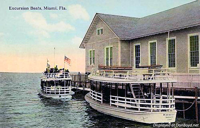 1910s - excursion boats at Elsers Pier in Miami