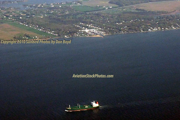 April 2010 - Aerial view of Chesapeake Bay with Kent Island in the background photo #1901
