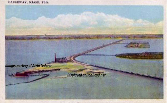 1920 - County Causeway looking west from Miami Beach