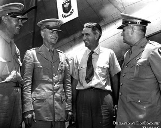 1942 - BGEN H. Wooten, USAAF, BGEN Junius W. Jones, USAAF, Mr. John Paul Riddle and MGEN Walter R. Weaver, USAAF (story below)