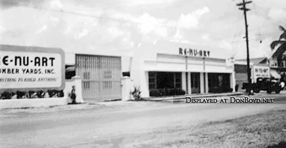 1950s - a Re-nu-art (Renuart) lumber yard somewhere in South Florida