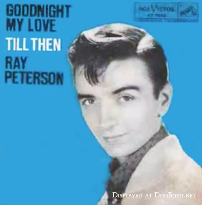 1959 - Ray Petersons album for Goodnight My Love that Rick Shaw signed off with every night