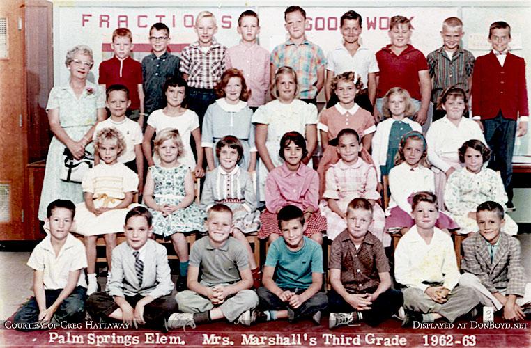 1962-1963 - Mrs. Marshalls 3rd grade class at Palm Springs Elementary School