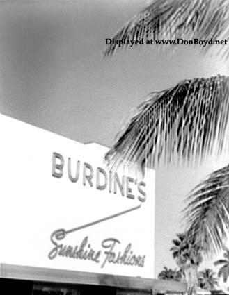 1953 - the new Burdines department store on Miami Beach