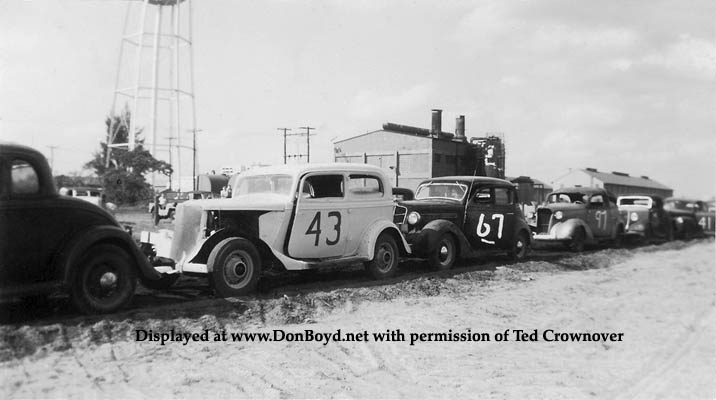 1950 - Ted Crownovers dads 1934 Ford stock car at Opa-locka Speedway