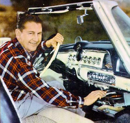 automobile in dash record players lawrence welk in his 1955 dodge