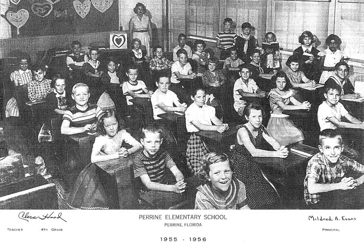 1956 - Clara Hoods 4th grade class at Perrine Elementary School (55-56)