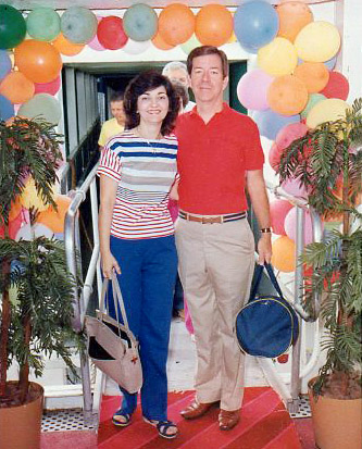 Fran and George Young returning from a cruise