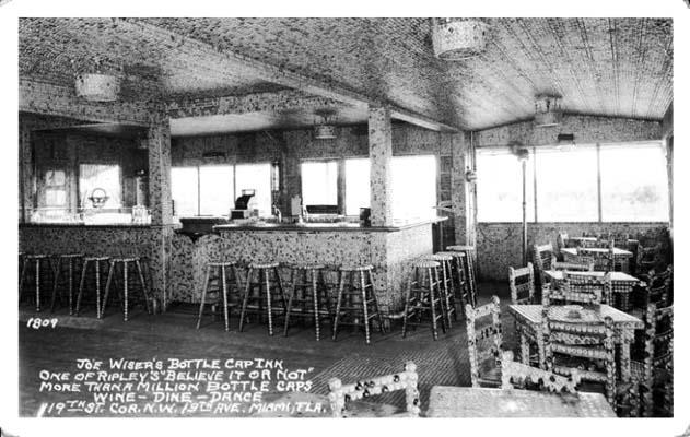 1950s - the interior of the Bottle Cap Inn
