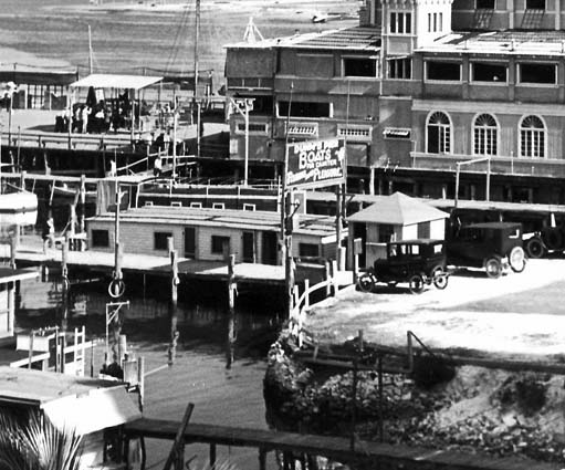 Mid 1920s - Dunns Pier at 12th Street (now Flagler Street) and Biscayne Bay, Miami