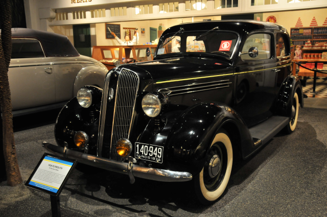 1939 Plymouth P-2 Two-Door Sedan from Petersen Museum Collection, gift of Carl Roger Ekholm family