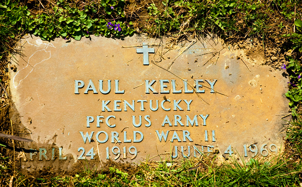 MY UNCLE PAULS GRAVE MARKER
