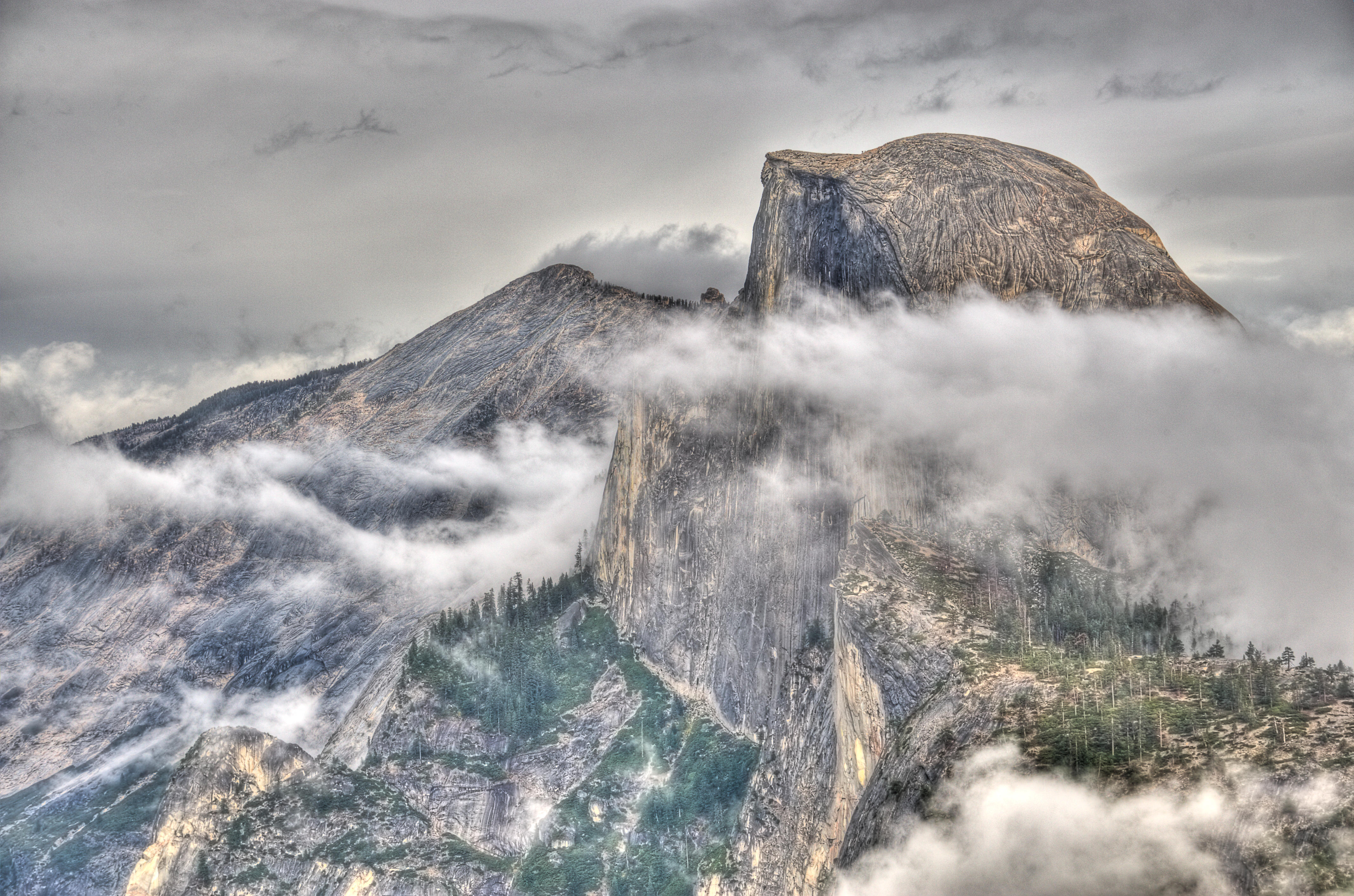 Half Dome Close Up HDR