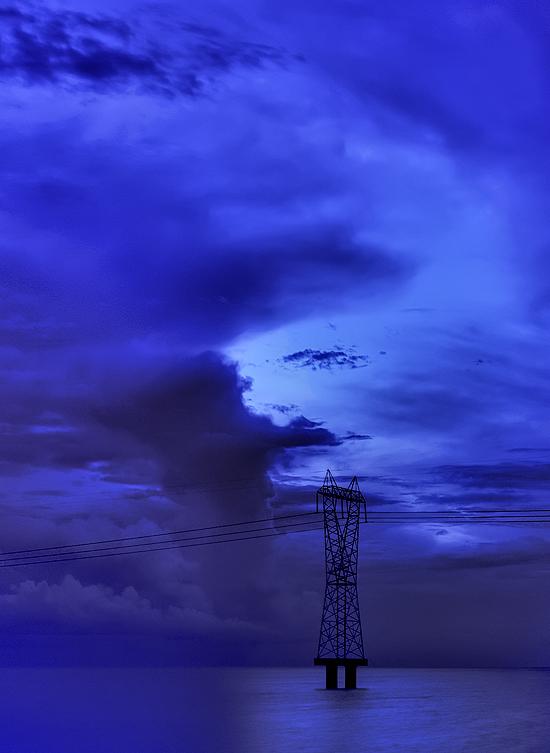 In a Blue Light