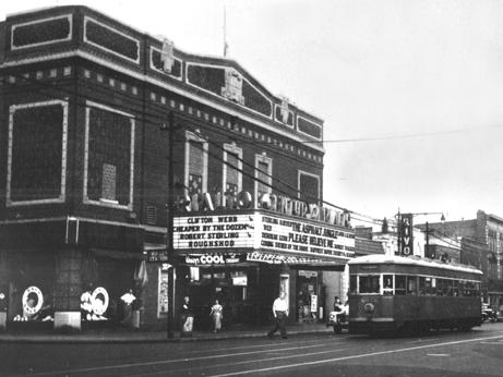 The Rialto Theater on Flatbush Avenue - southeast corner of Cortelyou Road. The Rivoli Caterers are to the right. (1950)