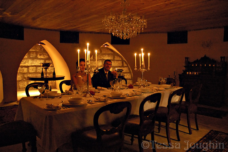 Dining by candlelight...