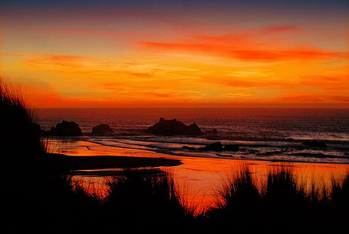 December Sunset At Meyers Creek Beach