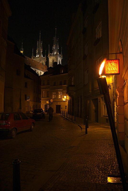 On the Streets of Prague at Night 06