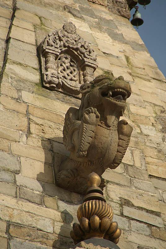 Detail on Bastala Durga Bhaktapur