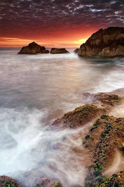 praia do rosa no crepúsculo