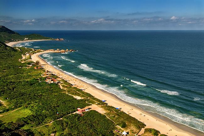 praia mole vista aerea