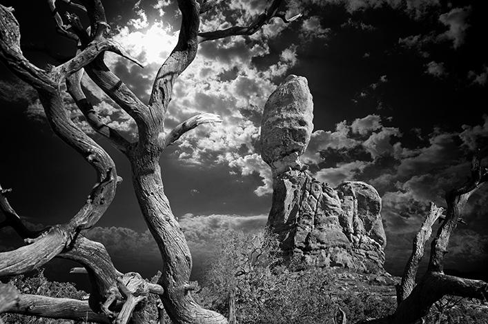 Clouds at Balanced Rock