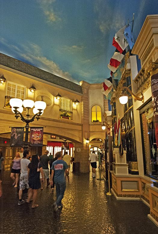 Shopping Street, Paris Hotel Interior