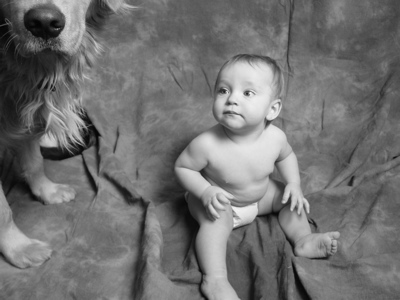 Bo loved Sawyer, and was so gentle with him, even when he was a baby!