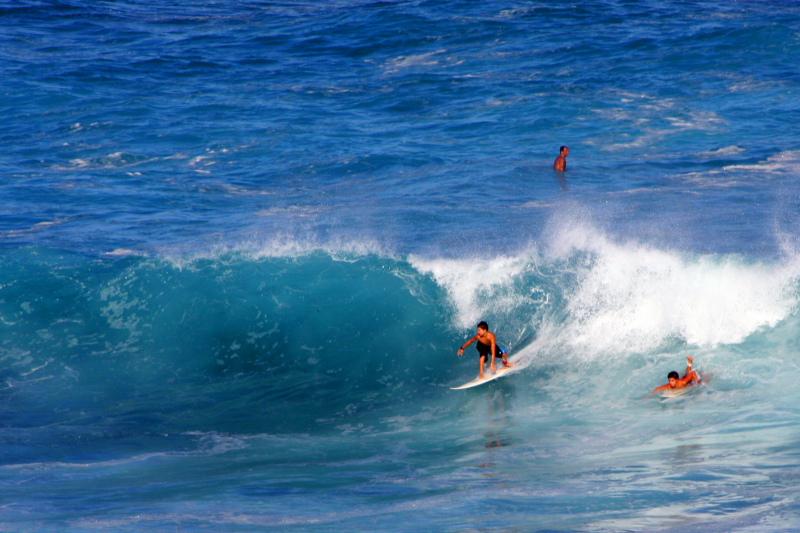 Hookipa - the Mount Everest for surfers, Maui, Hawaii, USA