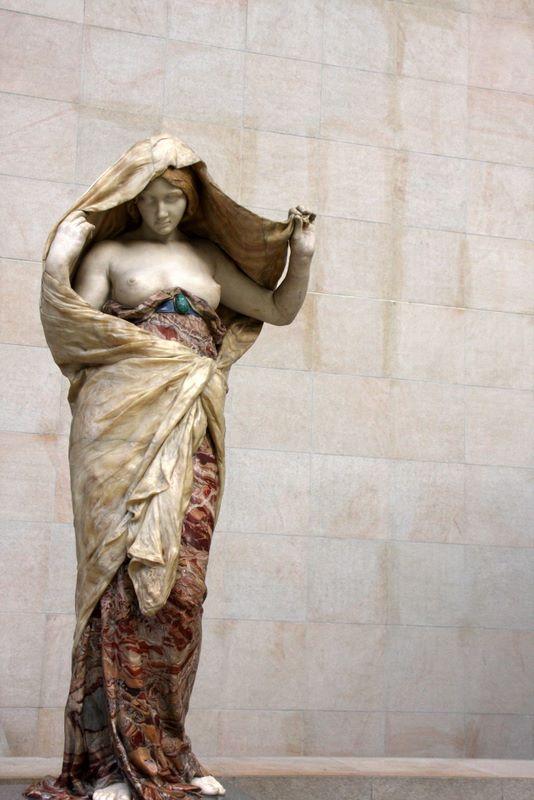 Marble drapery, Musee dOrsay, Paris, France