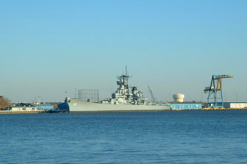 Warship on Schuykill River, Philadelphia