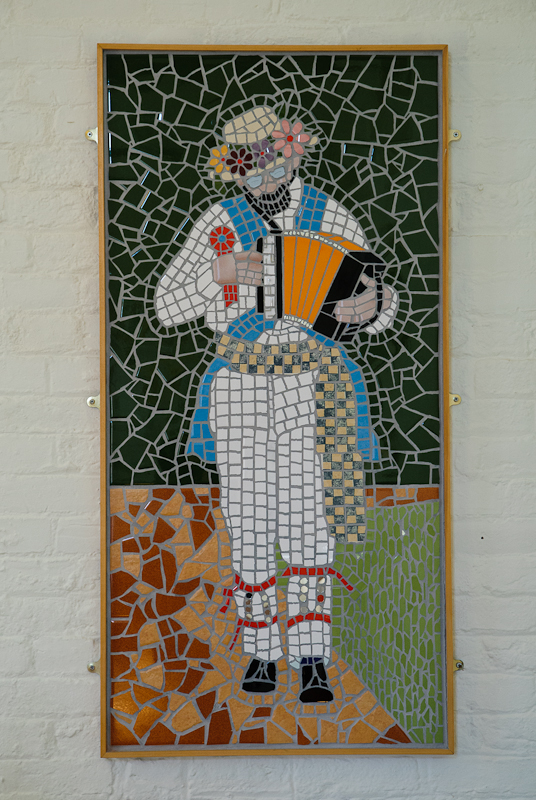 Mosaic of Morris Dancer, Winster