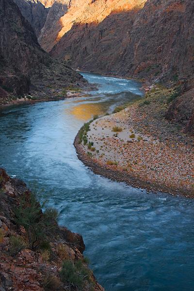 The emerald blue Colorado river