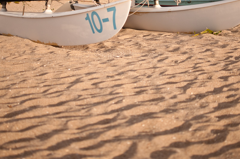 Boat on sand