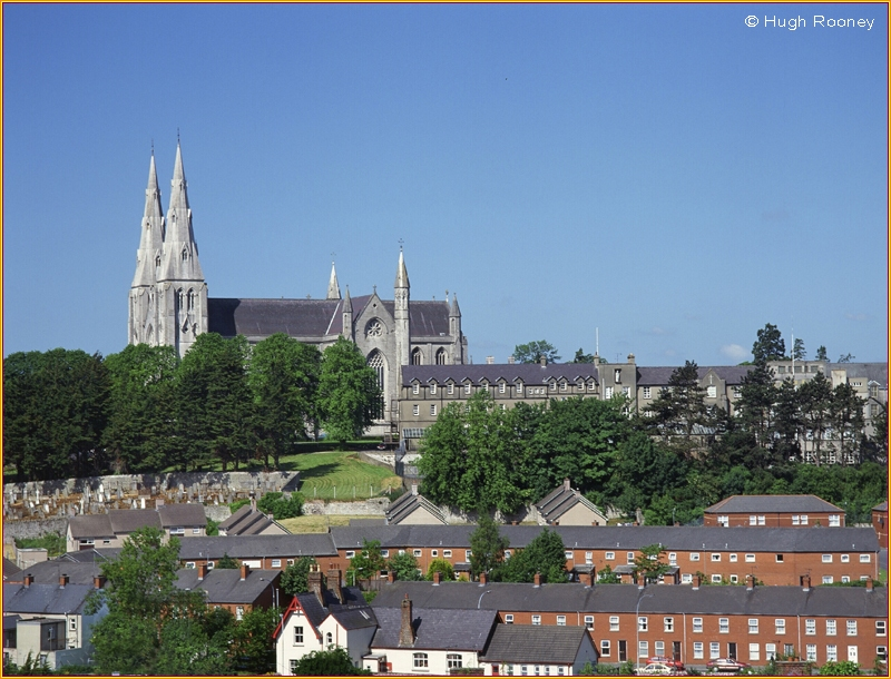 IRELAND - CO.ARMAGH - ARMAGH CITY  VISTA WITH ST PATRICKS CATHEDRAL R.C.