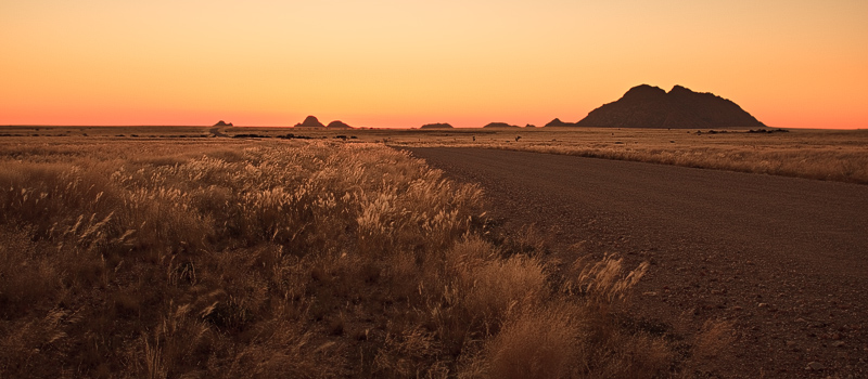 Deep Dawn Colours of Namibian desert
