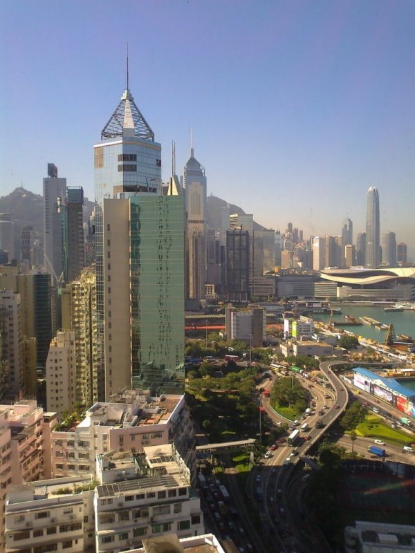 Fine View through the Window of The Excelsior, Causeway Bay Hong Kong